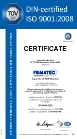 Download FRIMATEC ISO certificate